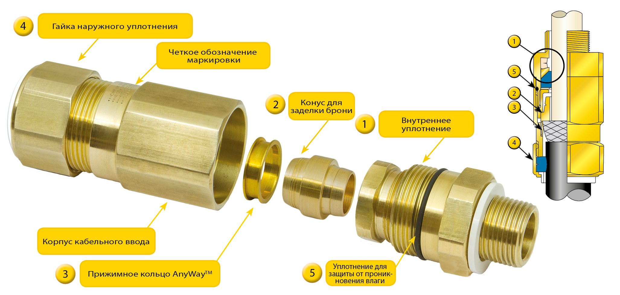 Cable Gland Key Features CMP